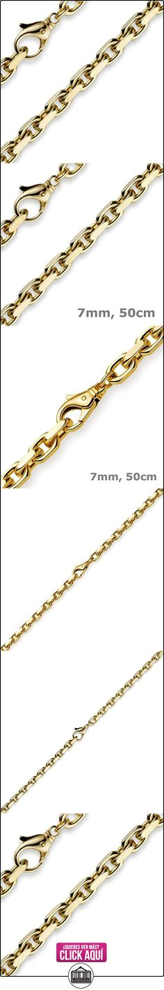 7 mm collar con colgantes collar de cadena,{750} oro 50 cm para hombre  ✿ Joyas para hombres especiales - lujo ✿ ▬► Ver oferta: http://comprar.io/goto/B0132E0FK0