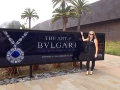 At the Bvlgari exhibit at the De Young exhibit in San Francisco