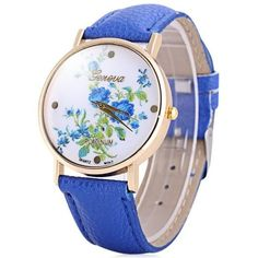 9102e15c73 dámské hodinky · Hot Selling Geneva Quartz Flower Watch for Women Leather  Band Rose... (€