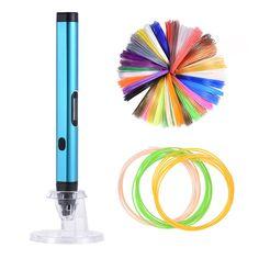 KKmoon DW-X4 Pluma de Impresiön 3D de Dibujo con Pantalla de OLED / Filamento del PLA + Filamento del ABS de 1.75mm ( Entrega Aleatoria de 20 Colores ) Color Azul: Amazon.es: Hogar Color Azul, Ebay, 3d Printer, Feathers, Blue Nails, Display, Colors, Dibujo, Home