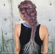 Well I don't think I could pull off Lavender hair but I love the braid <3