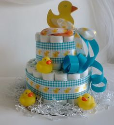 rubber duck baby shower diaper cake   Add it to your favorites to revisit it later.
