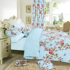 Duvet Cover with Pillowcase Quilt Cover Bedding Set Floral Single Double King