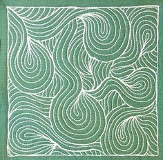 The Free Motion Quilting Project: Day 261 - Blowing Wind
