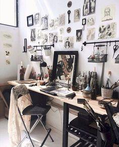 Great hanging racks for art storage home art studios, art studio at home,. Home Art Studios, Art Studio At Home, Deco Studio, Studio Room, Studio Spaces, Studio Apartments, Art Studio Design, Design Studios, Art Studio Organization