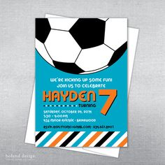 Soccer birthday invitation. Soccer party. by BolandDesignPaperCo, $12.00