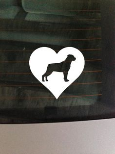 Rottweiler Heart  Vinyl Decal Car Window by GreenMountainVinyl, $4.00