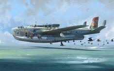 Ship in flight by Tyler West