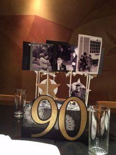 90th Birthday Party Photo Memory Centerpieces Ideas