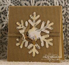 falling snow thanks by JBgreendawn - at Splitcoaststampers 1./1/18. (Pin#1: Christmas: Snowflake. Pin+: Christmas: Vintage).