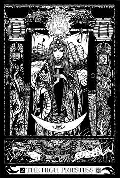 Major Arcana 2 : The High Priestess by Asfahani.deviantart.com