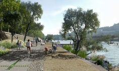 perspective insitu berges du rhone 02 « Landscape Architecture Works   Landezine