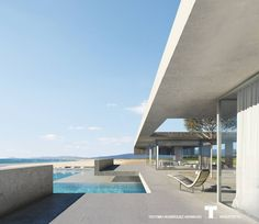 Architecture Drawings, Futuristic Architecture, Modern Houses, Modern House Design, Fran Silvestre, Desert Resort, Canary Islands, House Layouts, Lofts