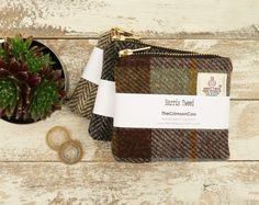 Harris Tweed Coin Purse , Scottish Gift, Change purse, gadget bag, Christmas Gifts for Men, Good Christmas Gifts