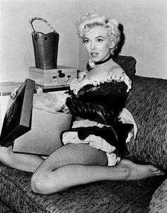 Marilyn Monroe in een studio publiciteit foto