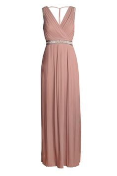 50f4fbc6566 TFNC party dress - Pleated front - Maxi length - Embellished detail - Zip  fastening on