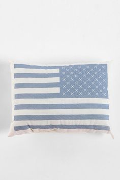 Sweet little Flag Pillow  #UrbanOutfitters