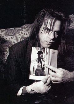 Peter Milne, Nick Cave admiring Maria Schneider, 1993
