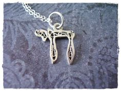 Tiny Chai Charm Necklace in Sterling Silver by EvelynMaeCreations, $15.00