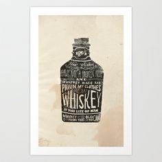 Whiskey Art Print by Jon Contino - $20.00
