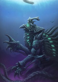 Deep Kaiju by Spenzer777.deviantart.com on @deviantART