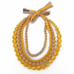 Marimekko Yellow/Orange/Beige Loru Necklace  - Click to enlarge