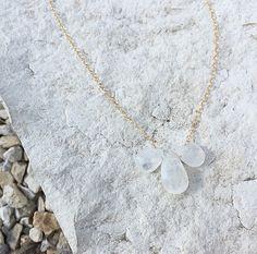Crystal Quartz Necklace (clear), $48.00 by JordanLovesJamesJewelry