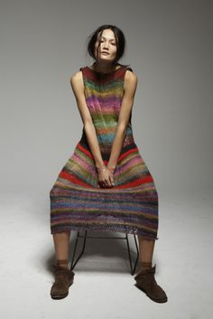 Rachel Rutt | Fashion Magazine | News. Fashion. Beauty. Music. | oystermag.com -Rachel's own creation - hand-knitted dress