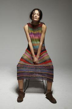 Rachel Rutt   Fashion Magazine   News. Fashion. Beauty. Music.   oystermag.com -Rachel's own creation - hand-knitted dress