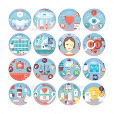 Medical Flat Circle Concepts Set