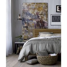 Pietra Full-Queen Duvet Cover in All Decorative Bedding | Crate and Barrel