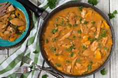 Hungarian Chicken Paprikash is a perfect weeknight dinner. This famous dish is super delicious, comforting, and really easy to make!