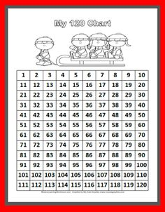 Classroom Freebies: Math Number Chart 1-120