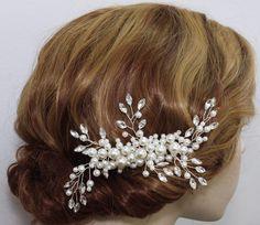 Pedazo del pelo novia boda accesorios nupciales del pelo peine