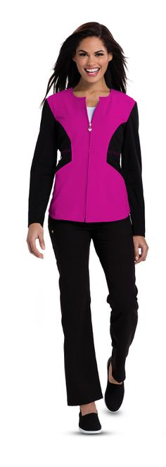 Careisma Scrubs by Sofia Vergara Fearless Angelina Contrast Zip Front Jacket