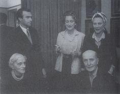 """Princess Irina, Prince Felix with their daughter Irina """"Bebe"""", standing behind Felix"""