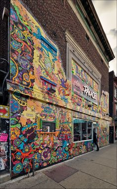 Lee's Palace has a new mural. Bloor Street east of Bathurst.