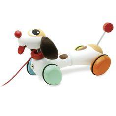 Vilac Houten hond trekfiguur 1j