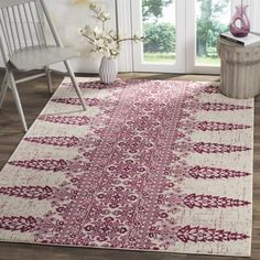 Shop for Safavieh Evoke Ivory / Fuchsia Area Rug (8' x 10'). Get free shipping at Overstock.com - Your Online Home Decor Outlet Store! Get 5% in rewards with Club O!