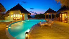 Evening Villa Pool - Island Hideaway Maldives