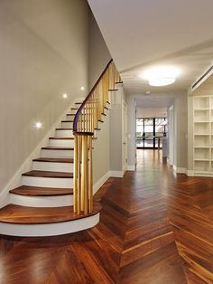 chevron floors.  Gorgeous.  I think done in the right stain these could stand the test of time.