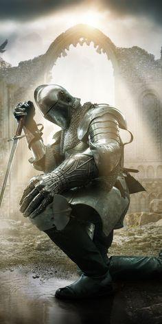 Medieval Knight, Medieval Armor, Knight Tattoo, Crusader Knight, Christian Warrior, Warrior Tattoos, Samurai, Knight Art, Prophetic Art