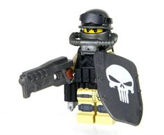 The post APOC Brawler features a genuine LEGO® minifigure and full combat gear