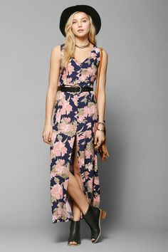 Reverse So Called Floral Maxi Dress #urbanoutfitters