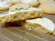Lime Tarragon Cookies with White Chocolate