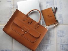 Architect Bag... I like the idea of making leather bags to suit not only different people, but different professions.