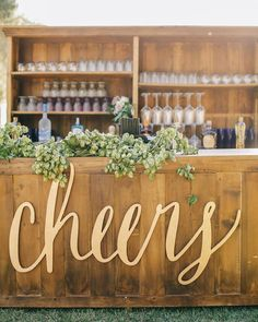 What's better mixed with a beautiful hops garland than a large 5 ft. calligraphy laser cut Cheers sign! Loved working with the sweet @lovelypaperthings and getting to laser cut her design on this her calligraphy style is so much fun!  This equestrian wedding was also featured on @100_layercake a while back.  Planning & Event Design: @heatherhoesch Photo: @brandonkiddphoto @kristin_kidd Floral Design: @sweetmariedesigns  #lasercut #bar #barsign #wedding #cheers #moderncalligraphy #calligraphy…