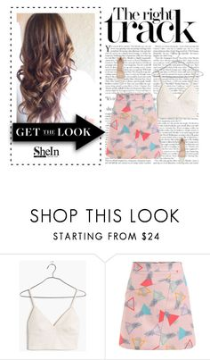 """SheIn contest"" by eddy-smilee ❤ liked on Polyvore featuring Madewell and Gianvito Rossi"