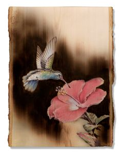 Wood Burned Hummingbird by Dennis Franzen