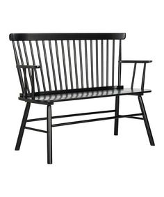 Another great find on #zulily! Black Stacy Spindleback Settee #zulilyfinds